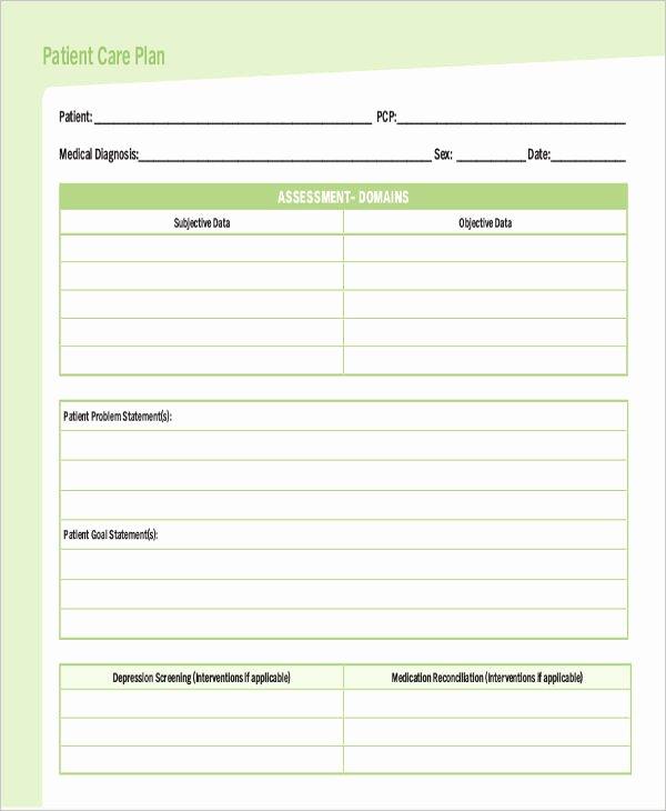 Nursing Care Plan Template Pdf Best Of Care Plan Template 16 Word Pdf format Download