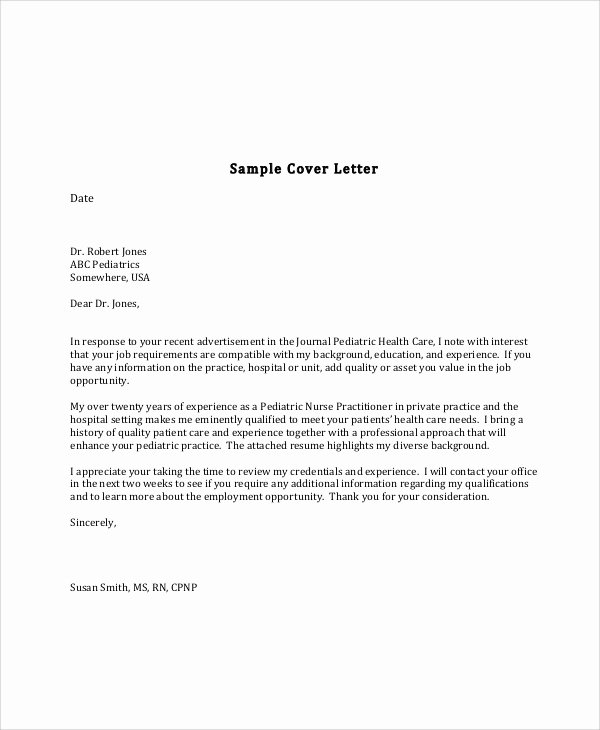 Nursing Cover Letter format Awesome 5 Nursing Cover Letter formats