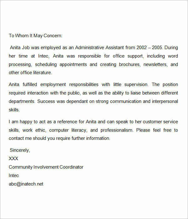 Nursing Letter Of Recommendation Example Elegant 15 Sample Re Mendation Letters for Employment In Word