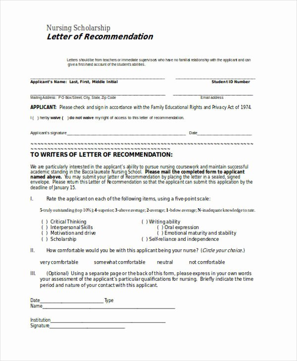 Nursing Recommendation Letter Sample Inspirational 89 Re Mendation Letter Examples & Samples Doc Pdf