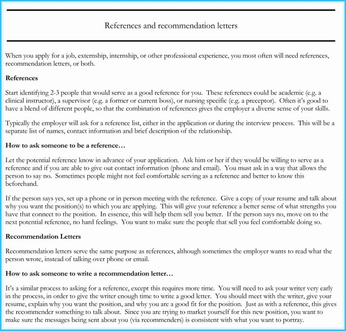 Nursing Recommendation Letter Sample Unique Nursing Reference Re Mendation Letters 9 Sample Letters