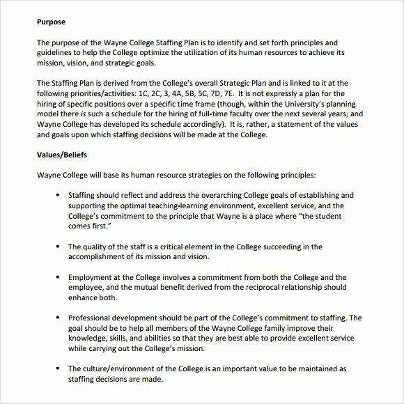 Nursing Staffing Plan Template Beautiful 7 Staffing Model Samples