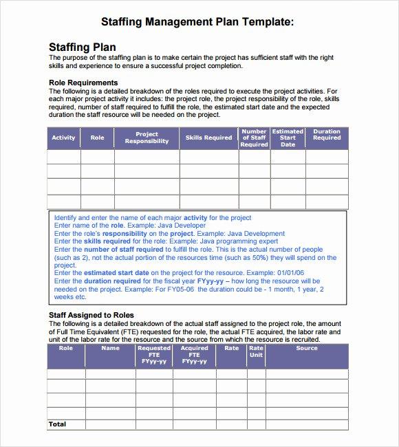 Nursing Staffing Plan Template Best Of 7 Staffing Model Samples