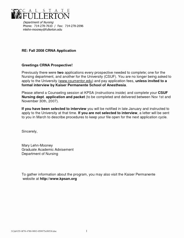 Nursing Student Letter Of Recommendation Elegant Letter Re Mendation for Nursing School Sample