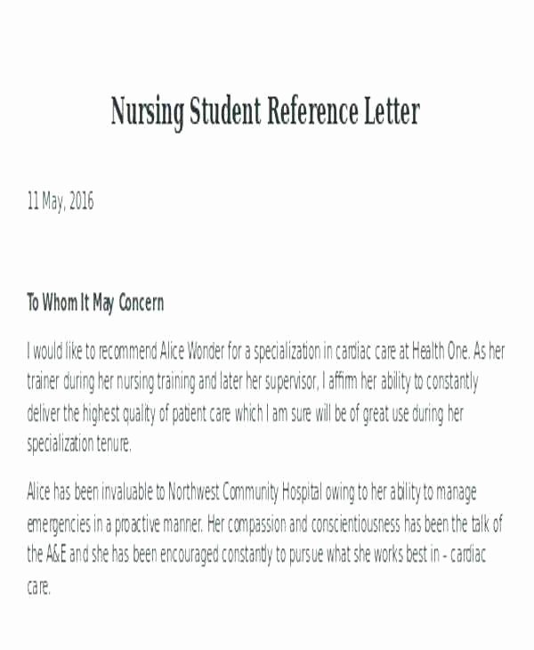 Nursing Student Letter Of Recommendation Inspirational Scholarships for Graduate Nursing Students Best