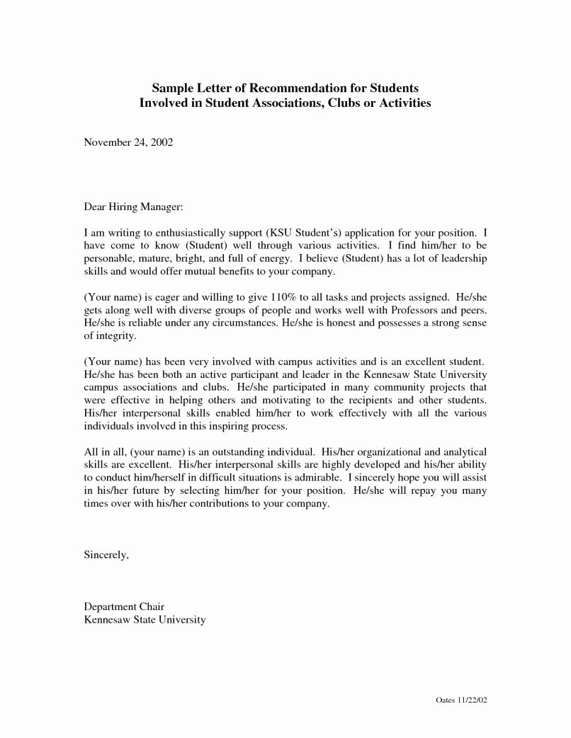Nursing Student Recommendation Letter Beautiful Sample Re Mendation Letter for Nurse Practitioner Job