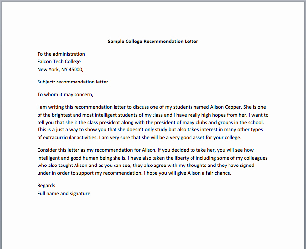 Nursing Student Recommendation Letter Elegant 5 Letter Of Re Mendation for Nursing School Templates