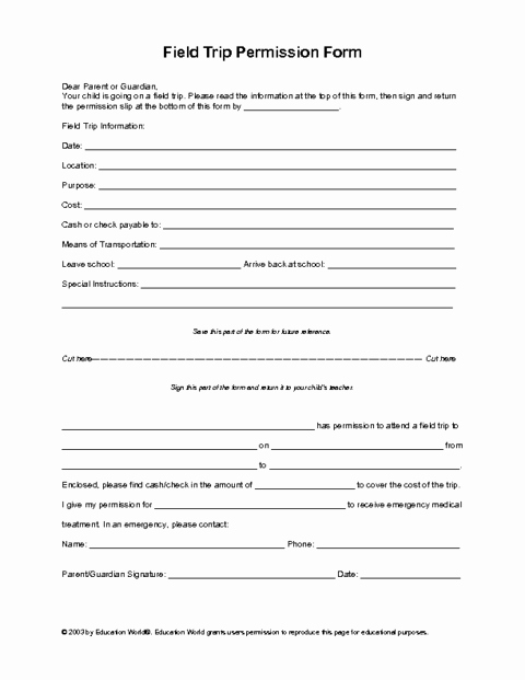 Nyc Doe Lesson Plan Template Beautiful Field Trip Permission Slip Template