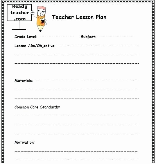 Nyc Doe Lesson Plan Template Best Of Editable Mon Core Lesson Plan Template – Lesson Plan
