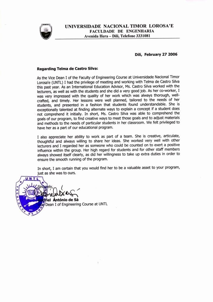 O1 Visa Recommendation Letter Sample Best Of Re Mendation Letter for Us Embassy Sample Personal