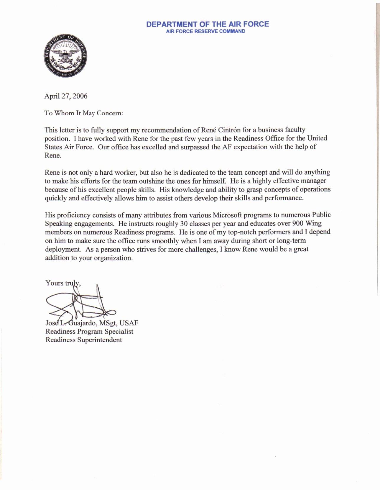 Ocs Letter Of Recommendation Elegant Air force Letter Re Mendation Hashtag Bg