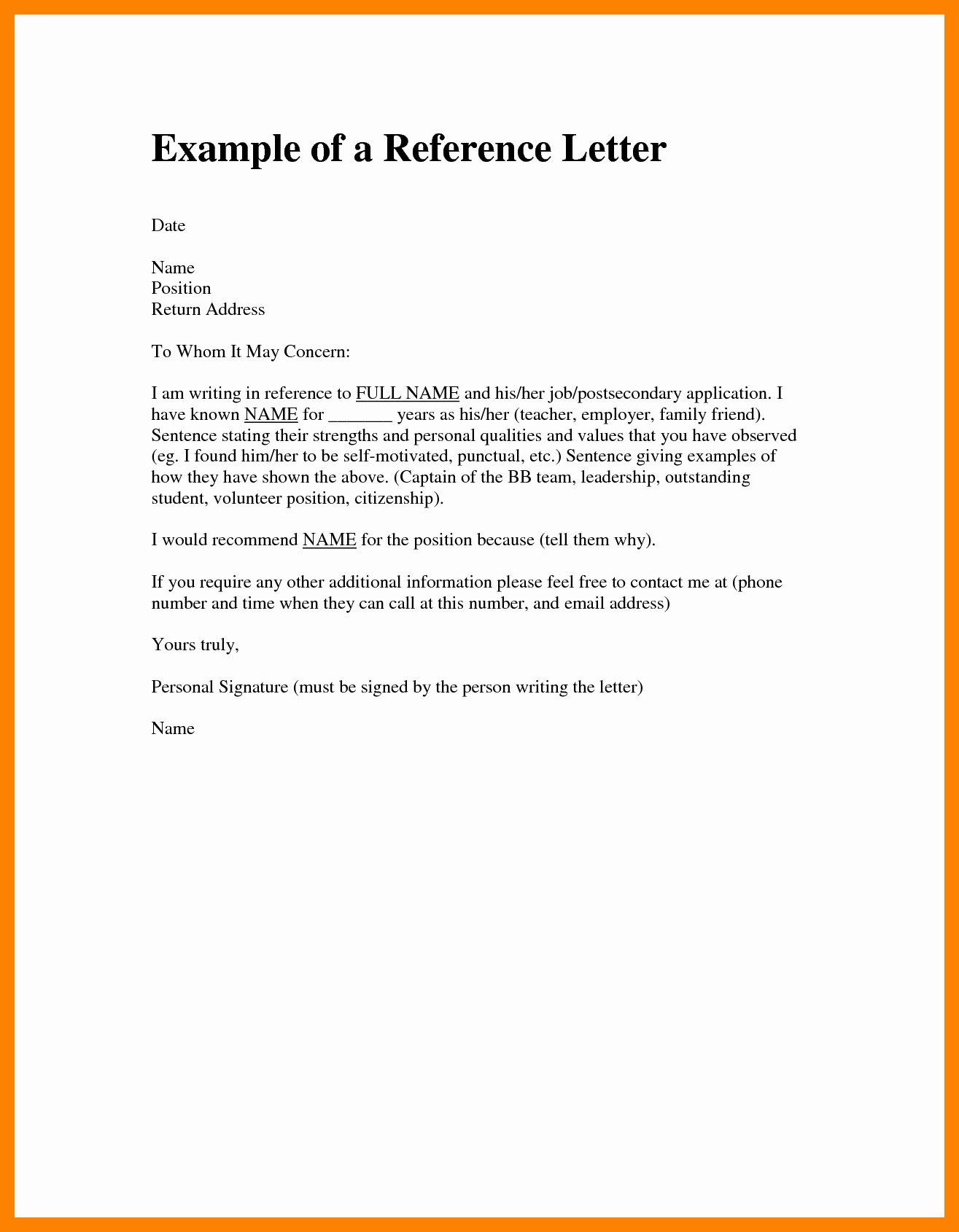Ocs Letter Of Recommendation Example Beautiful Short Letter format Examples Fresh Reference Dolapgnetband