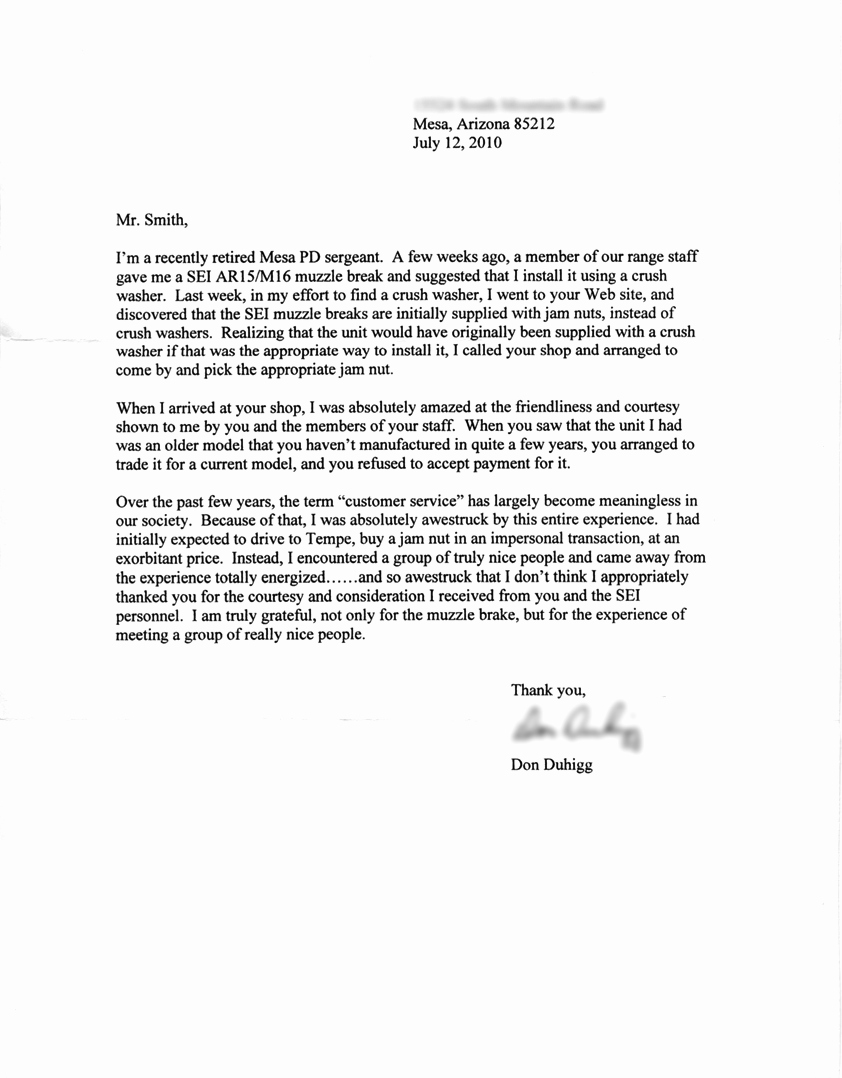 Ocs Letter Of Recommendation Example Beautiful Smith Enterprise • Smith Enterprises Retired Police