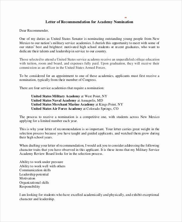 Ocs Letter Of Recommendation Fresh 7 Sample Military Re Mendation Letter Samples