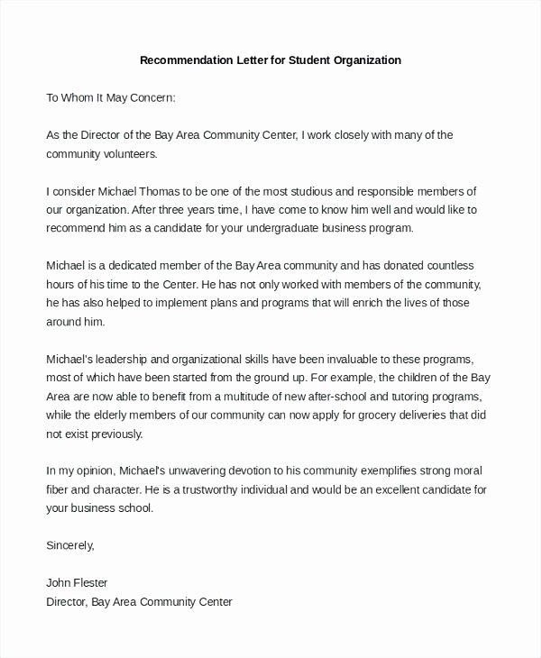 Ocs Letter Of Recommendation Luxury Candidate Re Mendation Letter Sample – Konfor