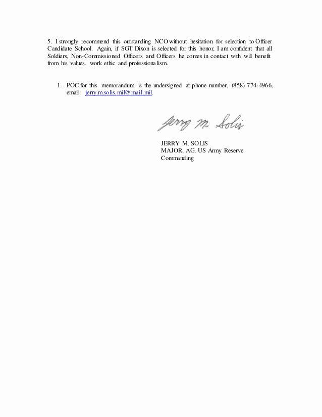 Ocs Letter Of Recommendation New Maj solis Letter Of Re Mendation Ocs Dixon Dec 2015 2