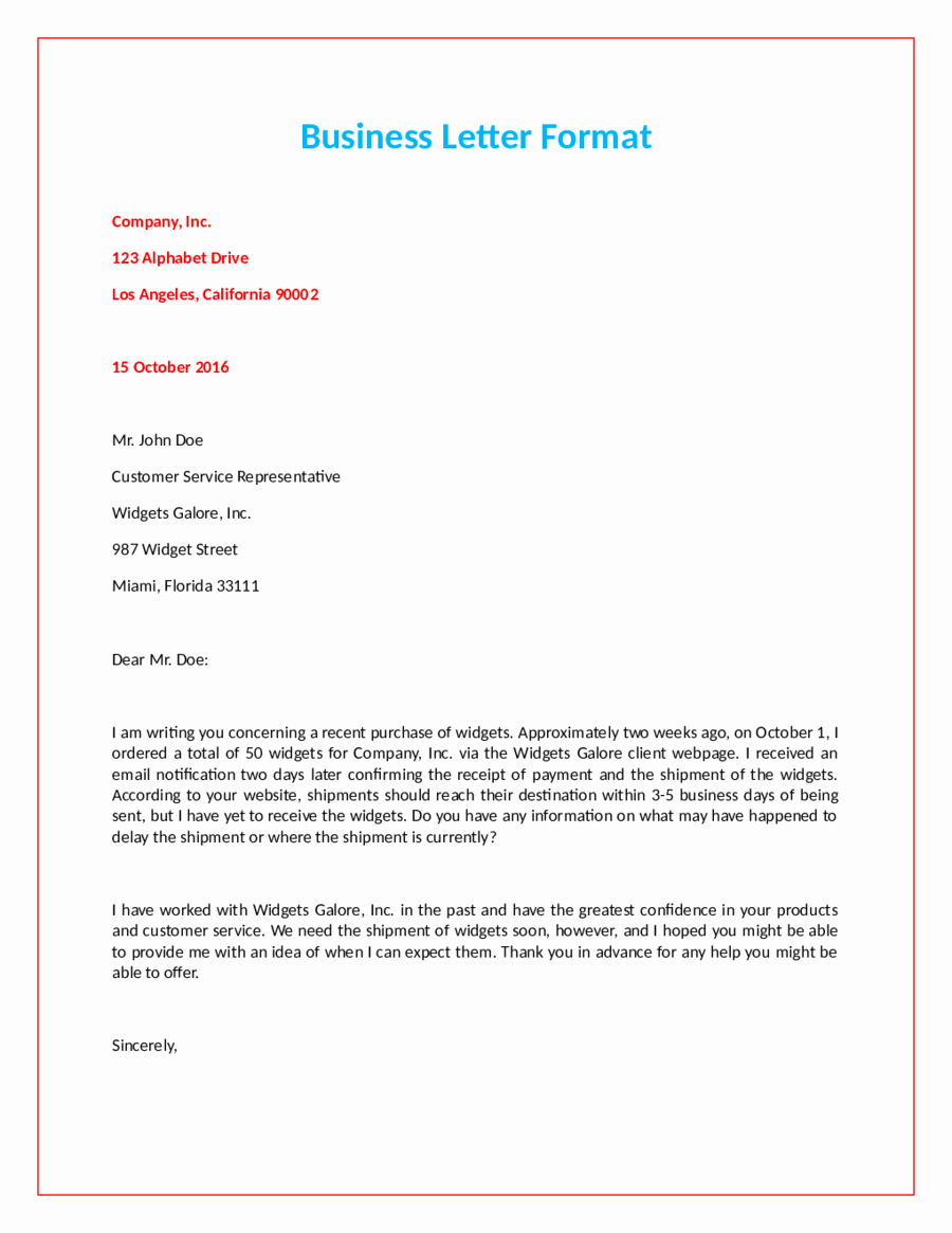 Official Letter format to Government Inspirational 2019 Ficial Letter format Fillable Printable Pdf