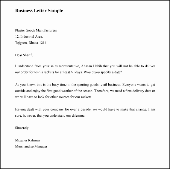 Official Letter format to Government Inspirational How to Write A Business Letter with Sample