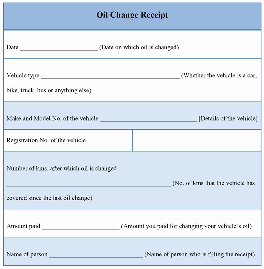 Oil Change Receipts Template Beautiful Receipt Template for Oil Change Example Of Oil Change