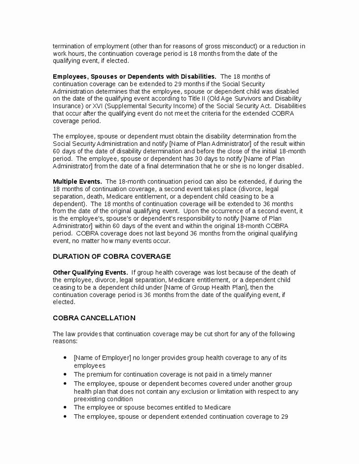 Open Enrollment Announcement Letter Inspirational Cobra Open Enrollment Letter Template 22 Images Of Cobra