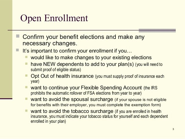 Open Enrollment Letter to Employees Awesome Open Enrollment Presentation 2014