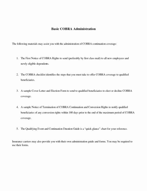 Open Enrollment Letter to Employees Fresh Sample Cobra Letter to Employee