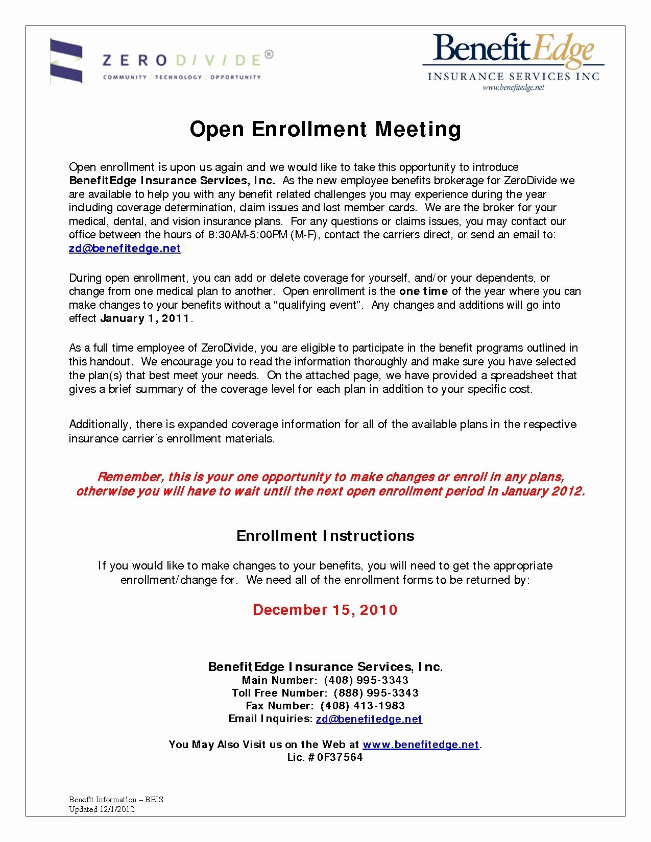 Open Enrollment Letters to Employees Fresh Open Enrollment Template Letter Download