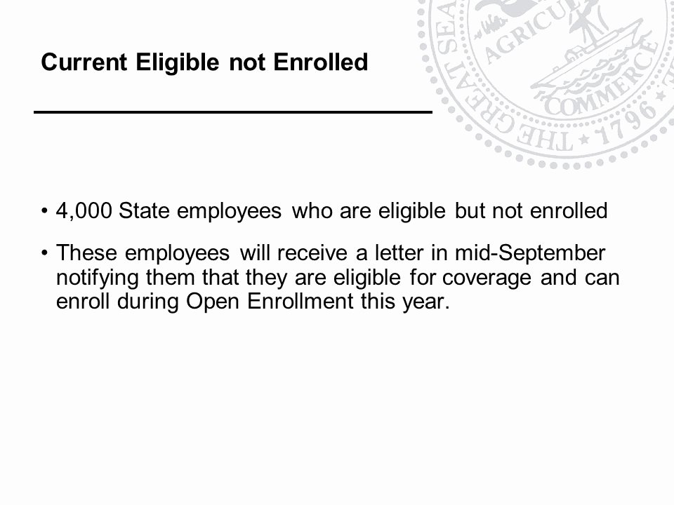 Open Enrollment Letters to Employees Lovely State and He Agency Benefit Coordinators Ppt Video