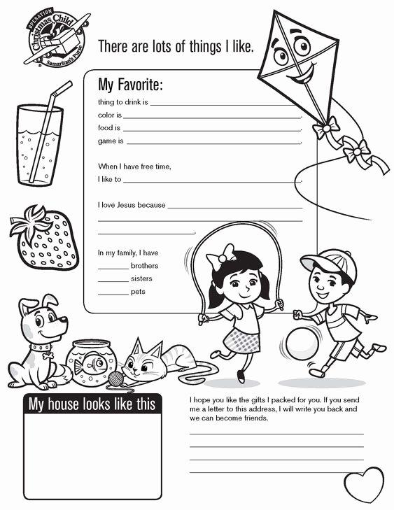 Operation Christmas Child Letter Samples Lovely Pinterest • the World's Catalog Of Ideas
