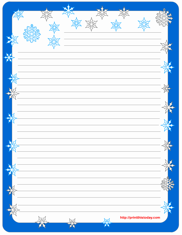 Operation Christmas Child Letter Template Luxury Lined Stationery Pads