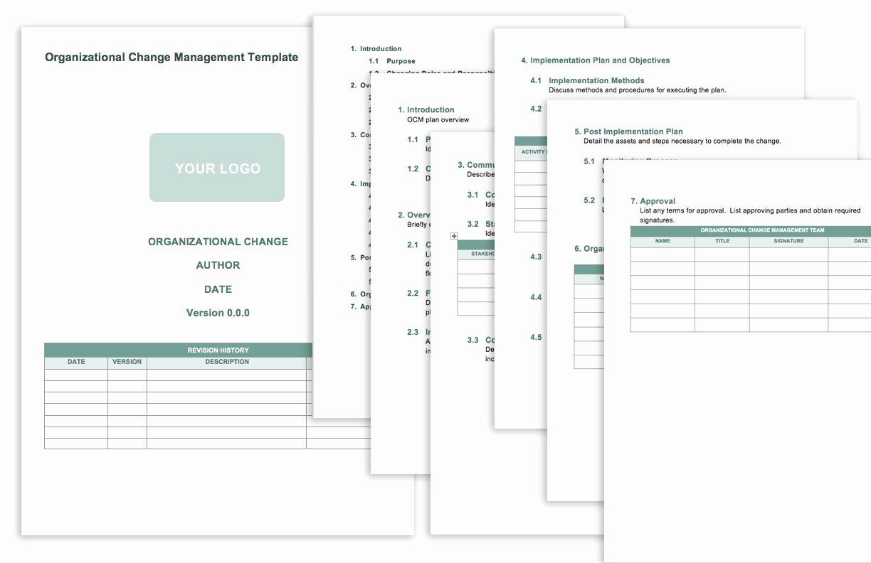 Organizational Change Management Plan Template Luxury Free Change Management Templates