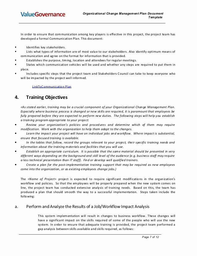 Organizational Change Management Plan Template New Pm002 02 organizational Change Management Plan