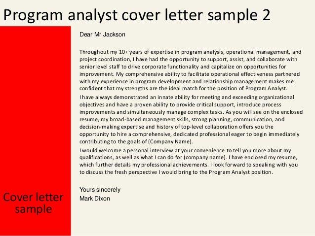 Organizational Development Cover Letter Best Of Program Analyst Cover Letter