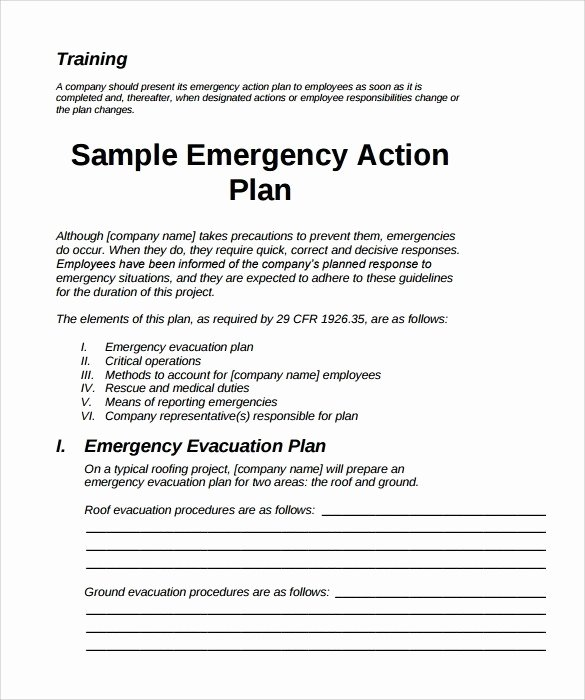 Osha Emergency Action Plan Template Beautiful Emergency Action Plan Sample