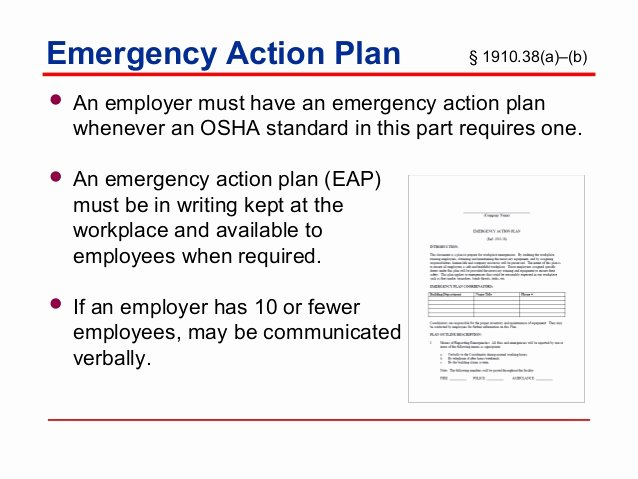 Osha Emergency Action Plan Template Beautiful Emergency Action Plans Training by Nmed