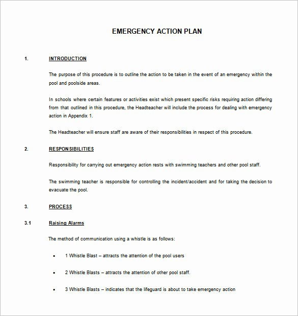 Osha Emergency Action Plan Template Best Of Emergency Action Plan Template Templates Resume