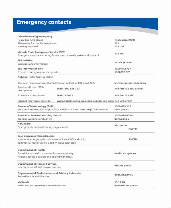 Osha Emergency Action Plan Template Elegant Emergency Action Plan Template