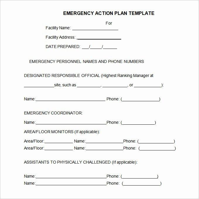 Osha Emergency Action Plan Template Fresh Emergency Action Plan Template