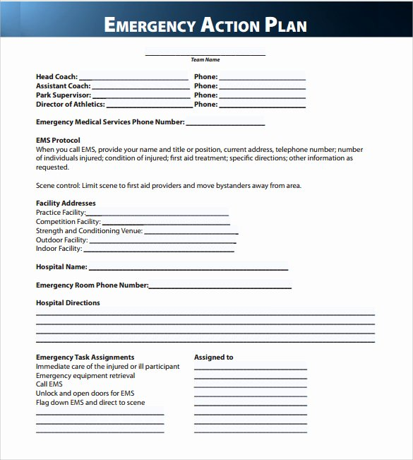 Osha Emergency Action Plan Template Lovely Sample Emergency Action Plan 11 Free Documents In Word Pdf