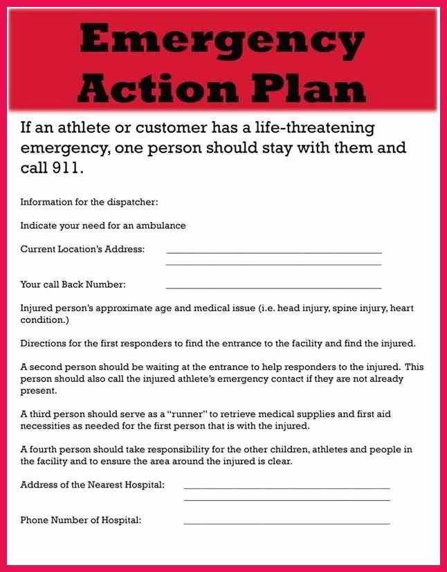 Osha Emergency Action Plan Template Luxury Emergency Action Plan Template