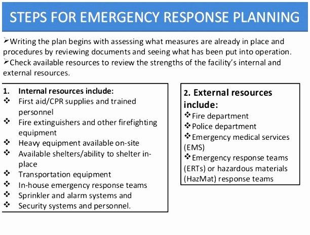 Osha Emergency Action Plan Template Unique 10 Emergency Response Plan Template Osha Rppaw