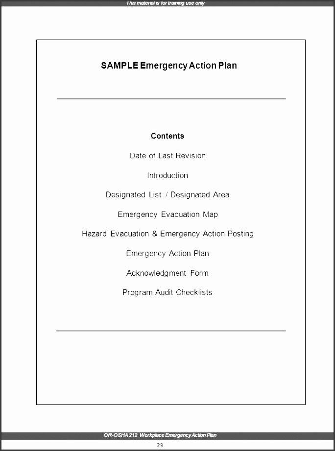Osha Emergency Action Plan Template Unique 7 Family Emergency Plan Sample Sampletemplatess