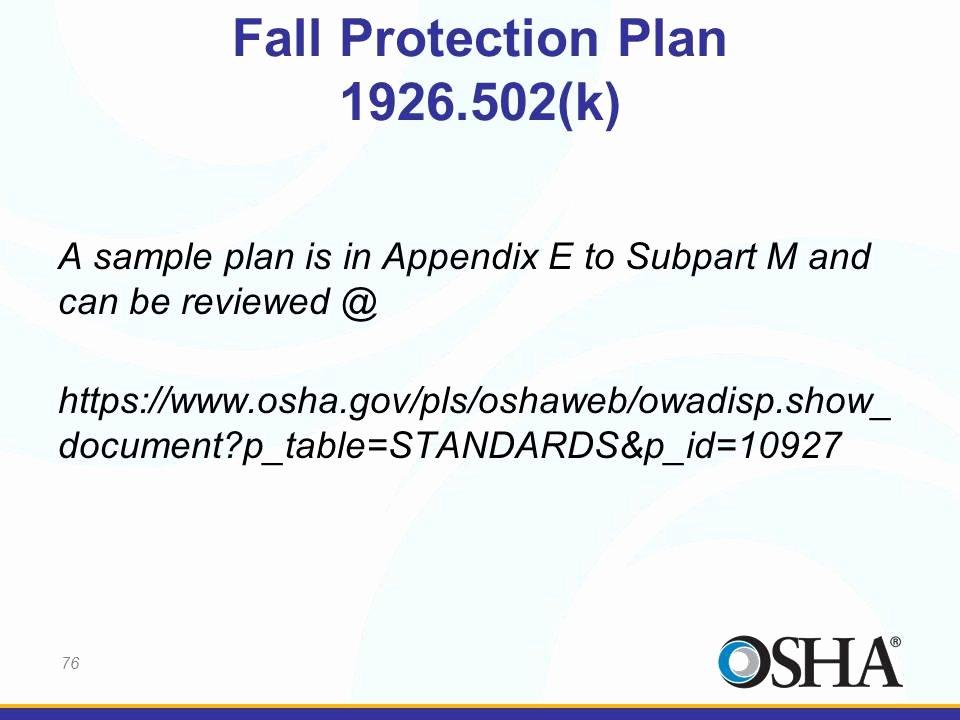 Osha Fall Protection Plan Template Luxury 12 Of Site Specific Fall Protection Template