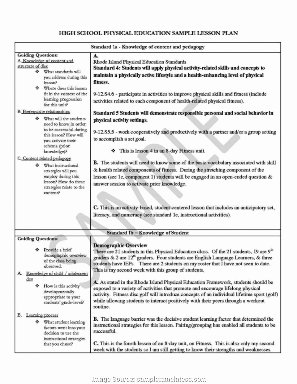 Otes Lesson Plan Template Lovely Student Centered Lesson Plan Template – 10 Great Lesson