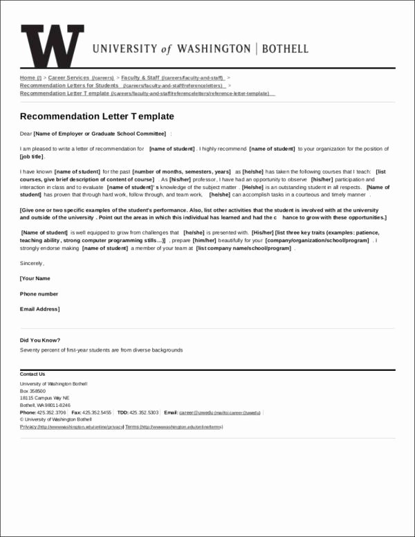 Pa Letter Of Recommendation Fresh 43 Letter Of Re Mendation Samples & Templates