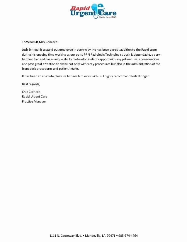 Pa School Letter Of Recommendation Unique Josh Re Mendation Letter