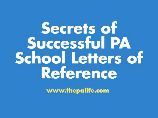 Pa School Recommendation Letter Best Of Secrets Of Successful Pa School Letters Of Re Mendation