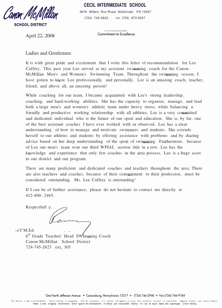 Pa School Recommendation Letter Luxury Teaching Certificate