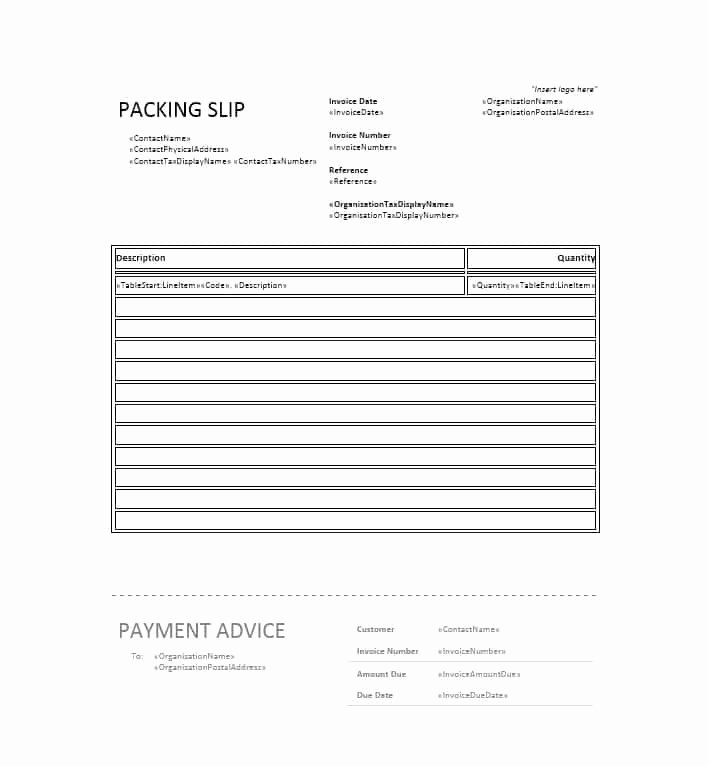 Packing Slip Template Word Elegant 30 Free Packing Slip Templates Word Excel Template