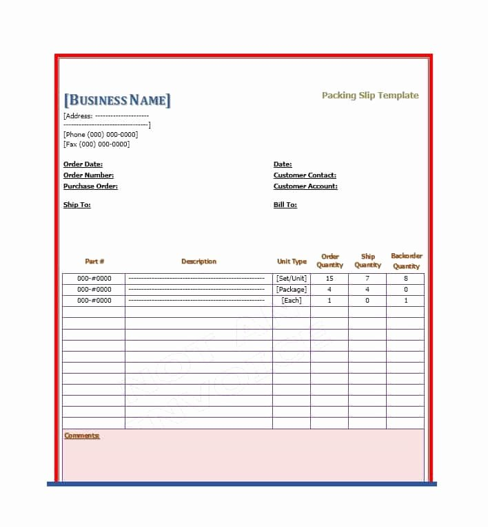 Packing Slip Template Word Inspirational 30 Free Packing Slip Templates Word Excel Template